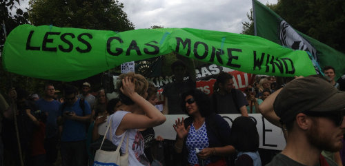 fracking protest (photo Beth Granter)