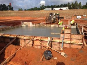 Grinder Building – Floor Being Finished