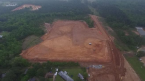 Aerial View – Site prior to start of foundations